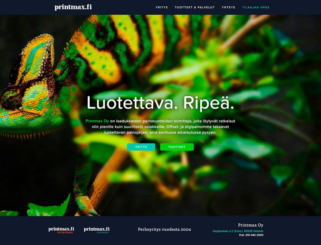 Printmax nettisivut