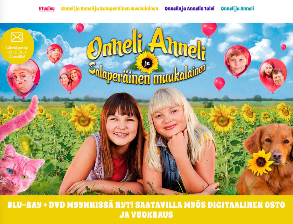 Onneli ja Anneli -elokuvien kotisivut